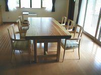 松の一枚板テーブル