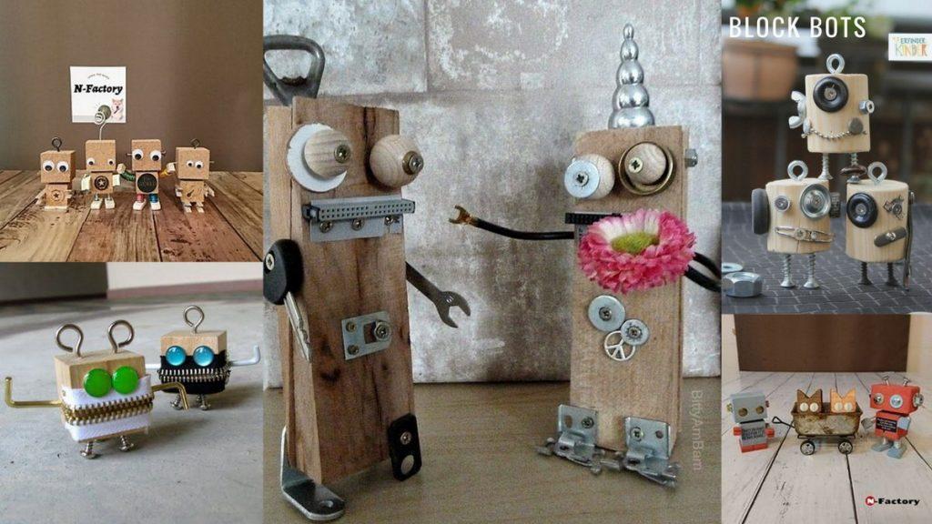 木育教室「夏休み特別企画」木で作るロボット参考作品画像